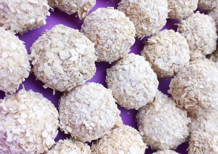 Resep Bola nestum cookies / kue lebaran yang Sempurna