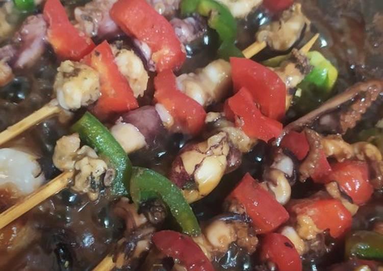 Gurita bakar paprika