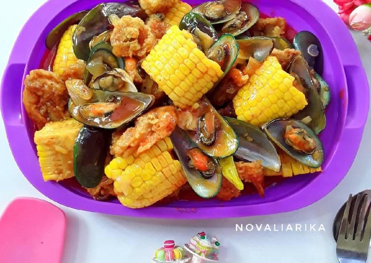 Seafood Platter Saos Padang