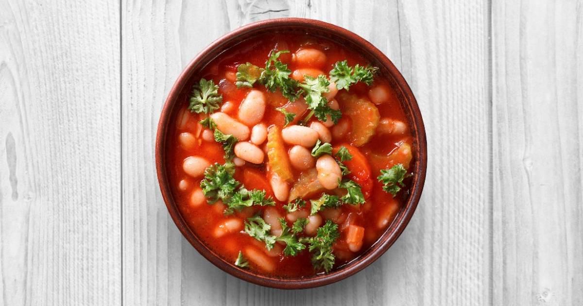Фасоль в томатном соусе ♨