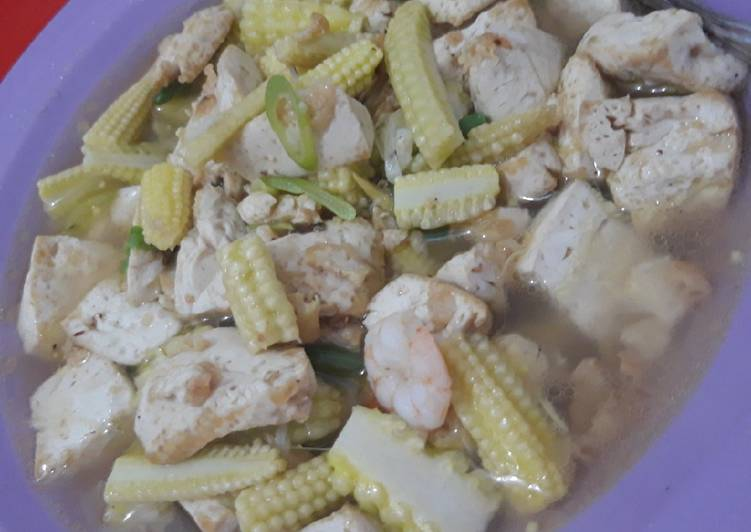 Cara Persiapan Tumis Baby Corn Dan Tahu Cina Lezat