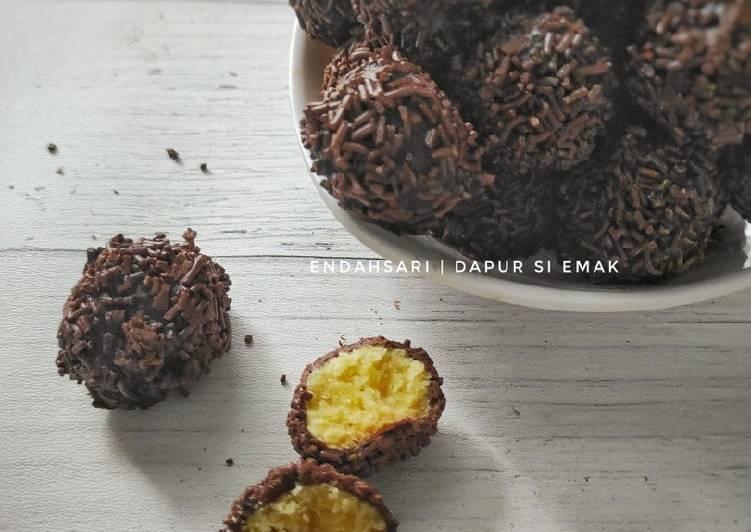 Resep Kue Rambutan / Kukis Bola Coklat Anti Gagal