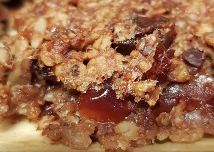 Steps to Make Ultimate Cacao cranberry flapjack bites