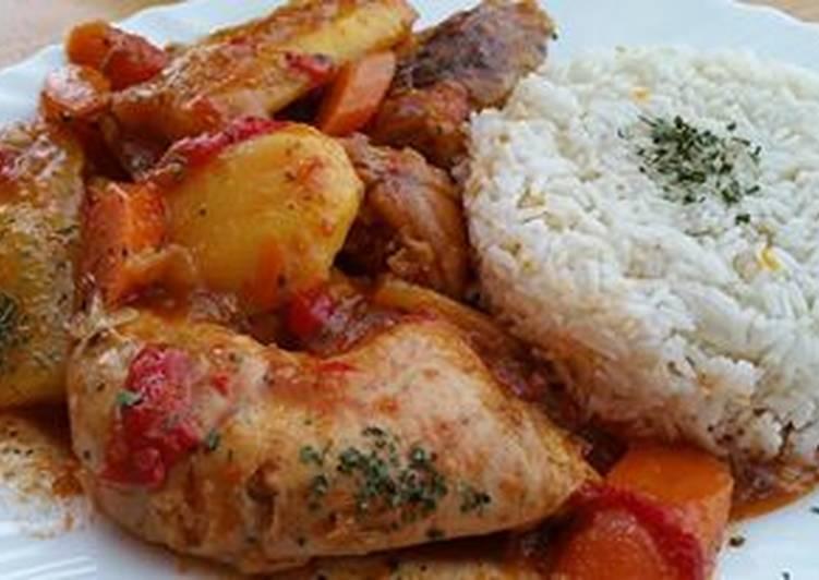 Seco de pollo Latino (Sudao de pollo colombiano)