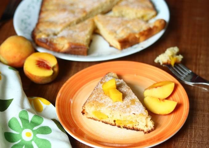 Steps to Prepare Gordon Ramsay Mango and peach cake