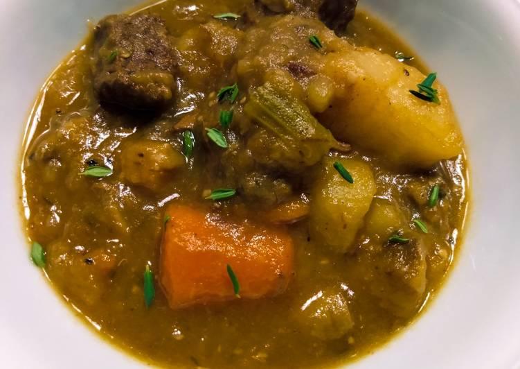 Brown ale beef stew