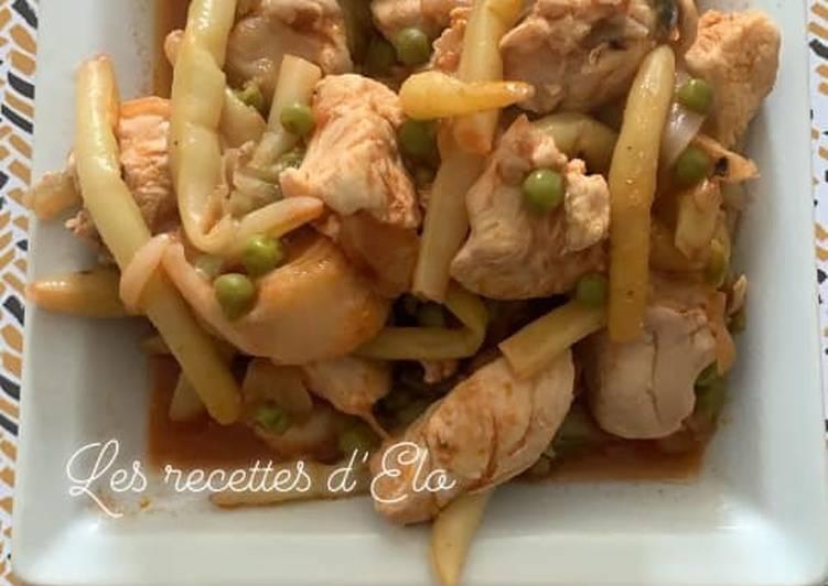 Poulet et légumes au Cookeo