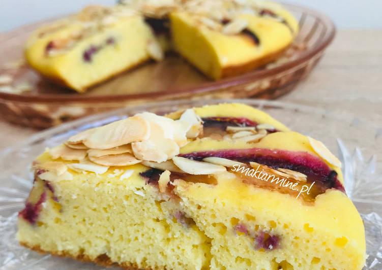 Ciasto kukurydziane ze śliwką (z patelni)