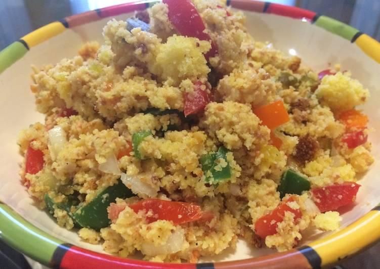 Steps to Prepare Simple Confetti Cornbread Salad