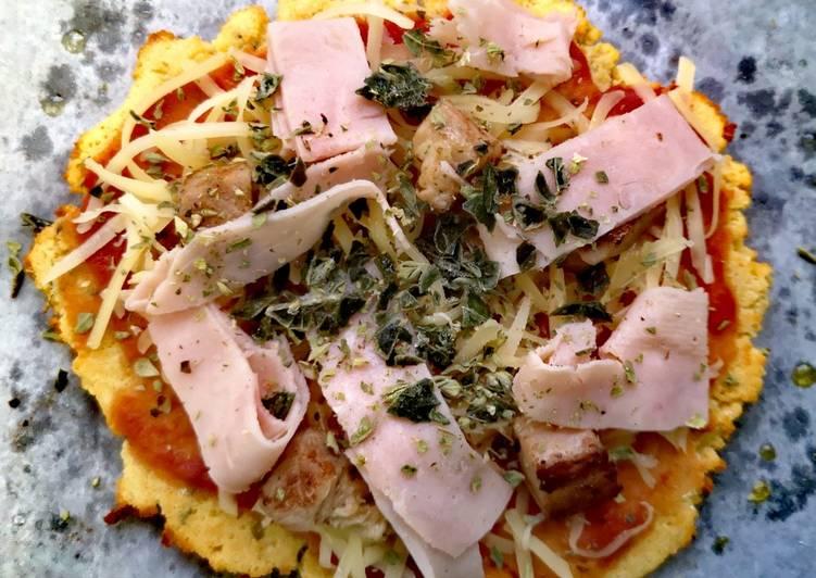 Foto principal de Pizza de harina de coco estilo Grez