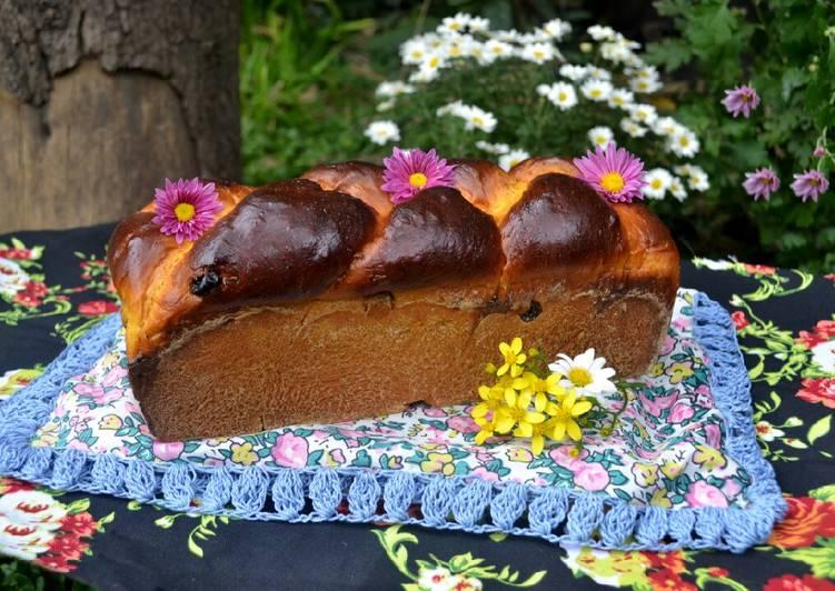 Pan brioche de calabaza, especias y pasas de uva🤓