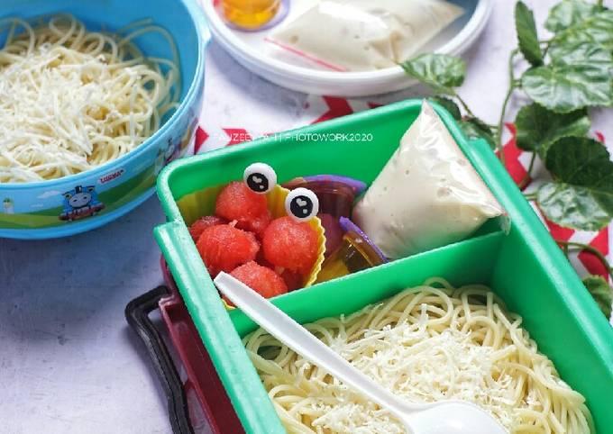 Bekal Anak – Spaghetti Carbonara Simpel