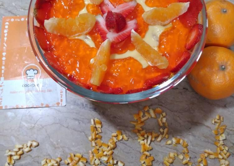 15 Minute Recipe of Award Winning Orange custard delight