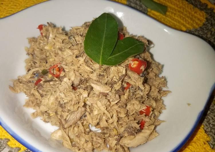 Resep Abon tuna (bisa buat isian roti) Paling dicari