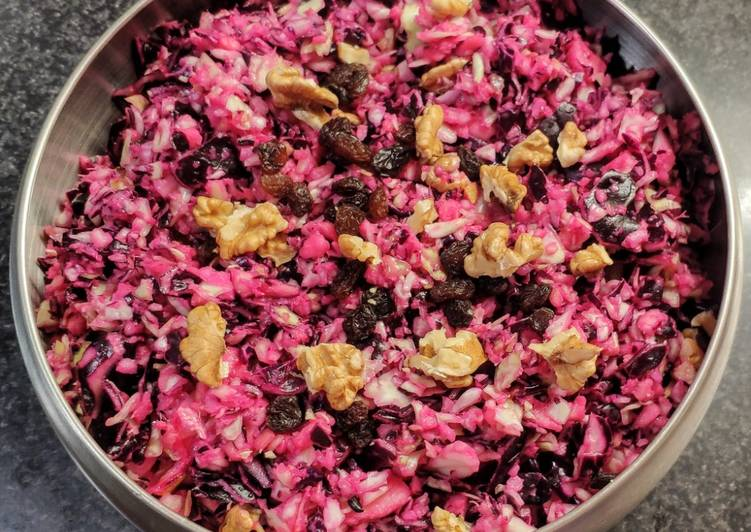 La Délicieuse Recette du Salade de chou rouge et chou blanc (vegan)