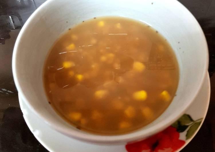Recipe of Ultimate My Barley & Sweetcorn Soup. �