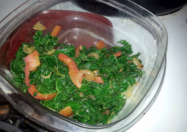 Nice yet spice Sauted kale