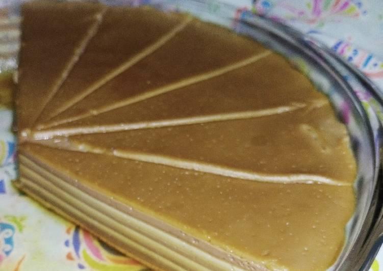 24. Puding Lapis Custard