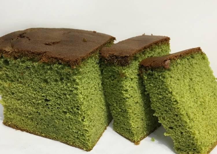 Easiest Way to Make Speedy Matcha Castella Sponge Cake