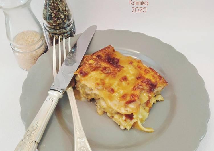 Recette: Délicieux Lasagnes a la soupe de poisson