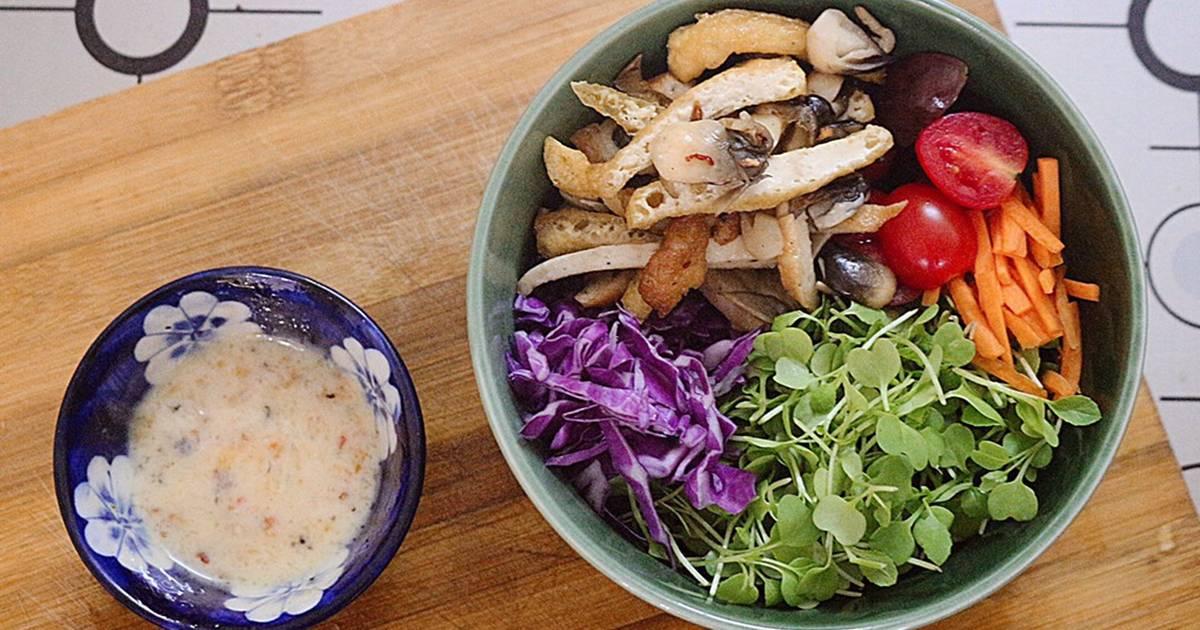 Cách Làm Món Salad chay cải mầm (ăn sáng) của Trinh - Cookpad