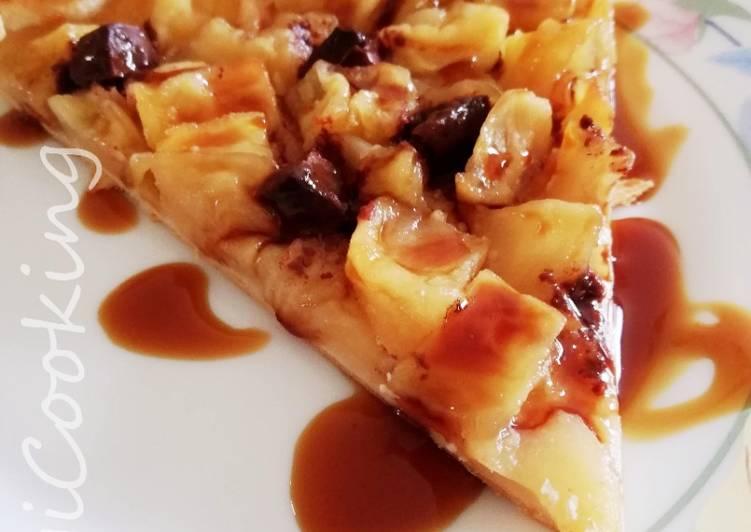 Comment Servir Tarte aux pommes caramélisées et chocolat