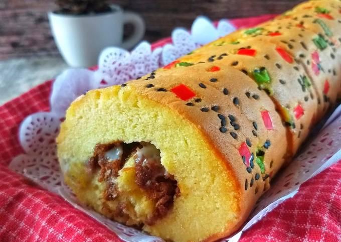 Beef Floss Roll Cake