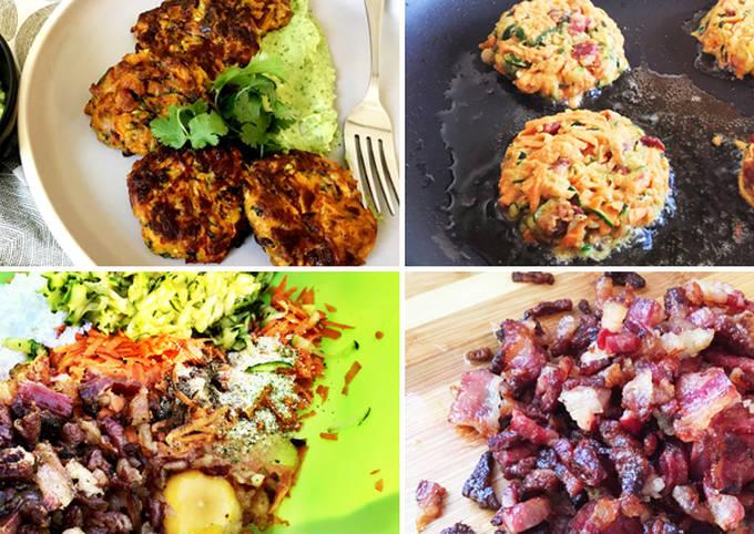 Wagyu Bacon, Zucchini & Sweet Potato Pancakes