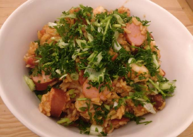 Recipe of Homemade Sausage & Prawn Jambalaya