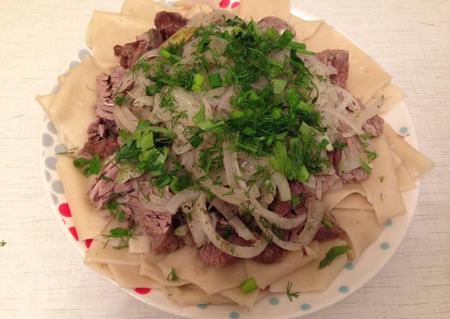 бешбармак по татарски рецепт с фото меркурий своих собратьев