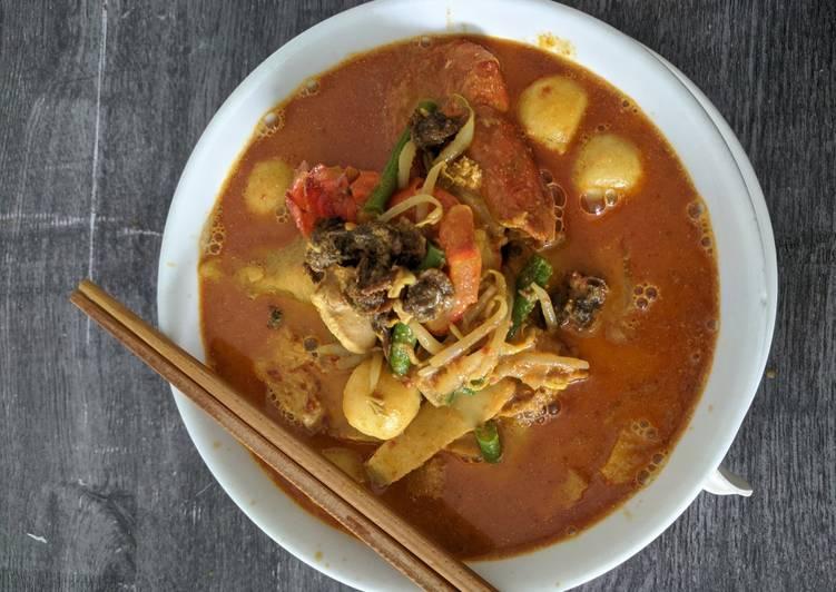 Mee Kari Ala Nyonya / Penang Curry Noodle - resepipouler.com