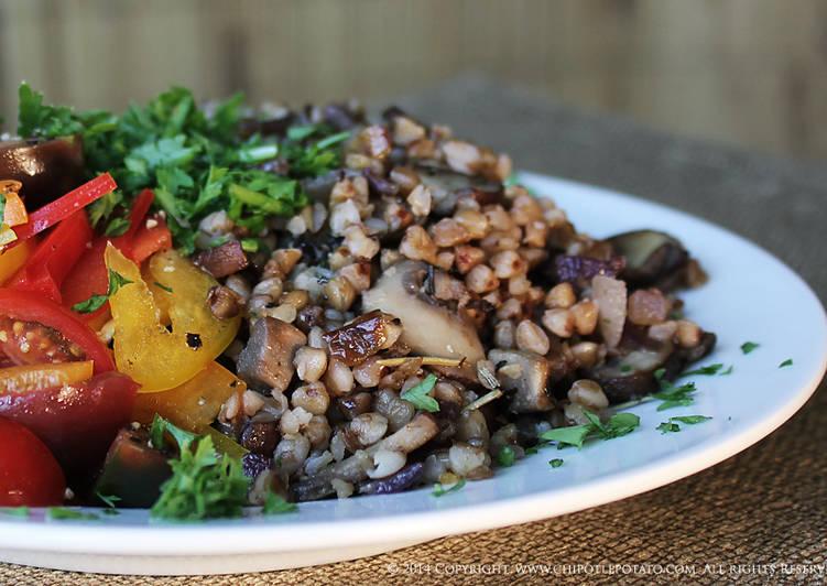 Buckwheat with Organic Mushrooms
