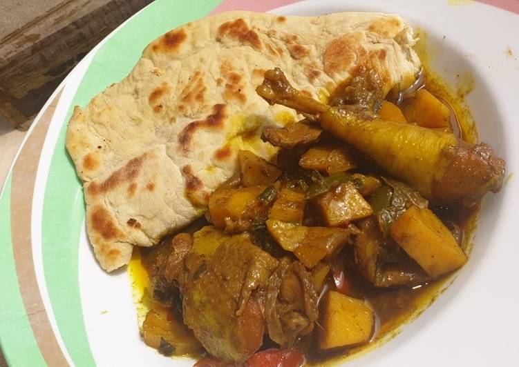 10 Minute Step-by-Step Guide to Prepare Homemade Jamaican chicken curry and chapati