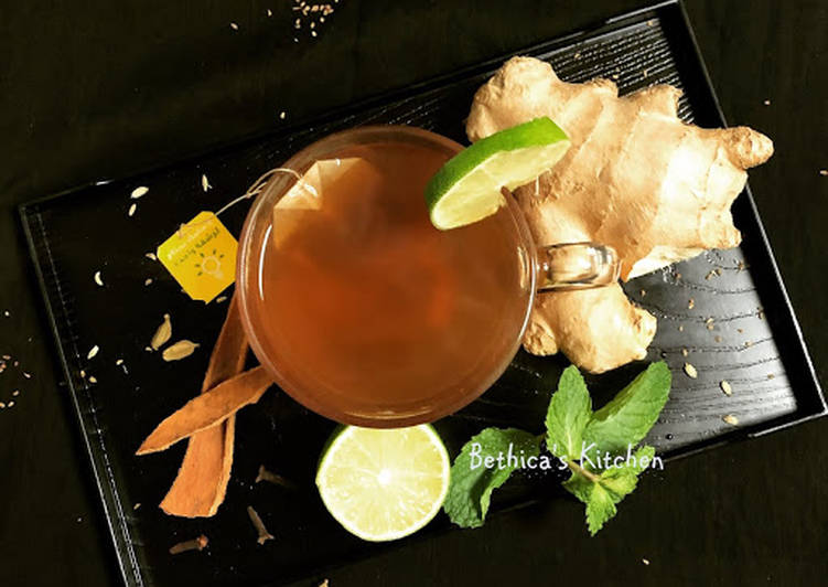 Step-by-Step Guide to Prepare Any-night-of-the-week Masala Ginger Lime Tea