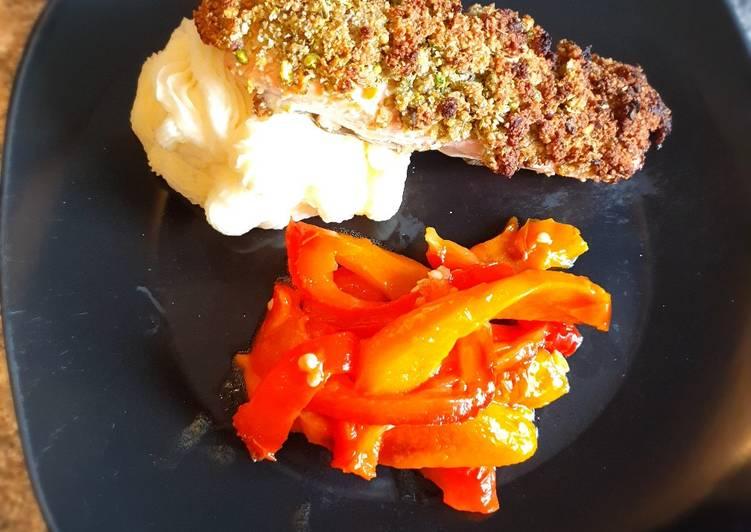 Recipe: Tasty Salmon pistacchio