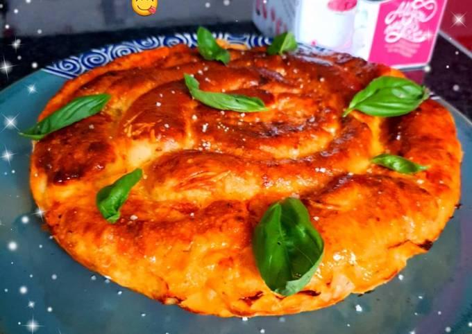 Pizza roulée de Cyril Lignac réadaptée au magimix