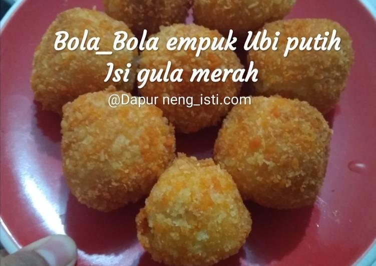 Bola_bola Empuk ubi putih isi gula merah