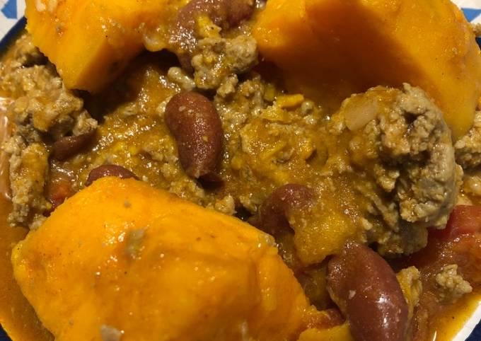 Sweet Potato 🍠 Turkey 🦃 Chili