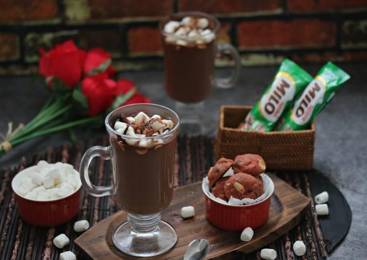 Milo Marshmallow Panas #Minuman #MaratonRaya - resepipouler.com