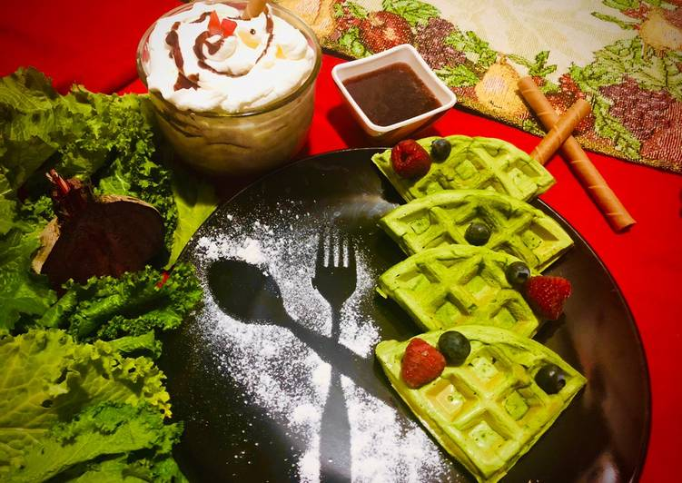 #HCC #Post_5 #rainbow_week_6 #Dish_Name_Spinach_Waffle