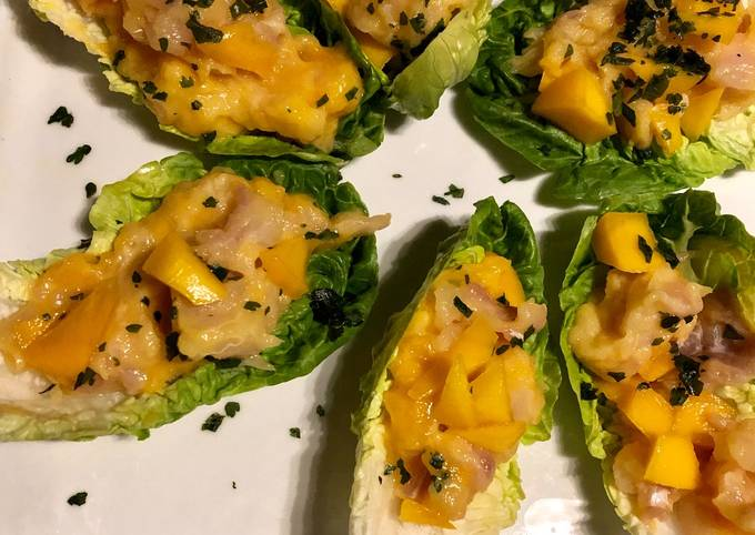Tartare de daurade et mangue