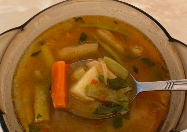 суп из стручковой фасоли замороженной