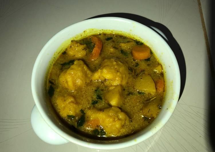 Vegetable dumplings soup 🍜