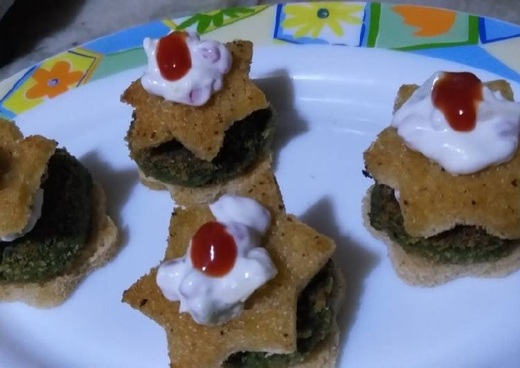 Recipe: Yummy Spinach chana tikki mini burger