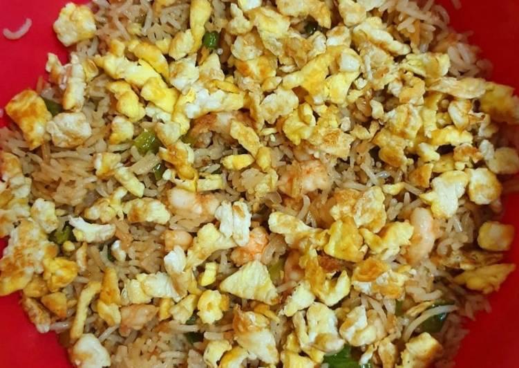 Egg shrimp (prawn)fried rice