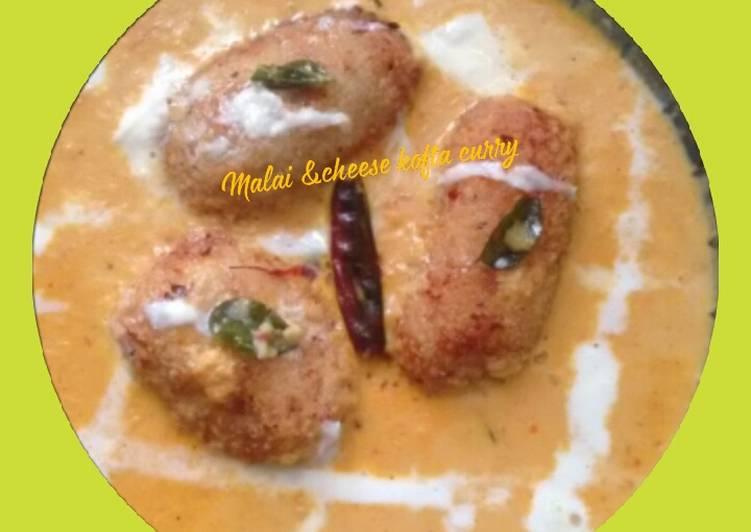 #Malai &cheese kofta curry#Curry