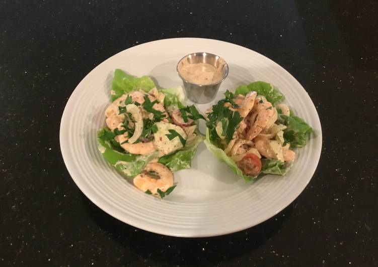 What is Dinner Ideas Any Night Of The Week Shrimp and Cucumber Salad Lettece Wraps