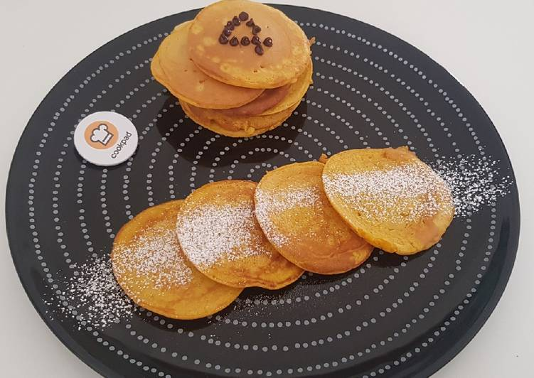 Pancake alla zucca senza lattosio