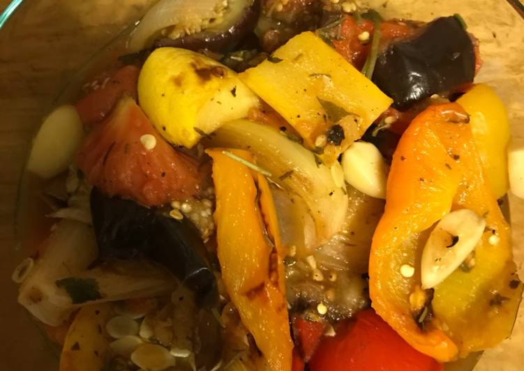 Easiest Way to Prepare Homemade Ratatouille with Oven Roasted Veggies