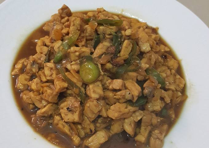 sambal goreng tempe (lauk nasi ponggol khas tegal) - resepenakbgt.com